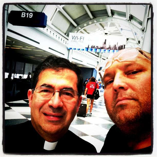 Father Frank Pavone and Bryan Kemper