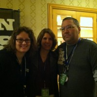 Bryan Kemper with Sarah Cleveland and Lisa Twig at SFLA Conferecne