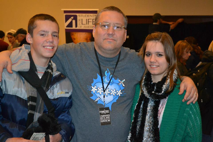 Hanging with young Pro-life Warriors at Youth Rally
