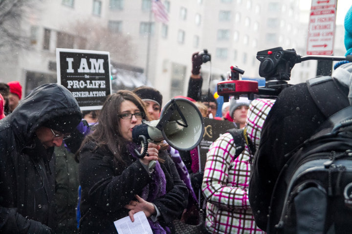Kristan Hawkins Leading Prayer at Planned Parenthood