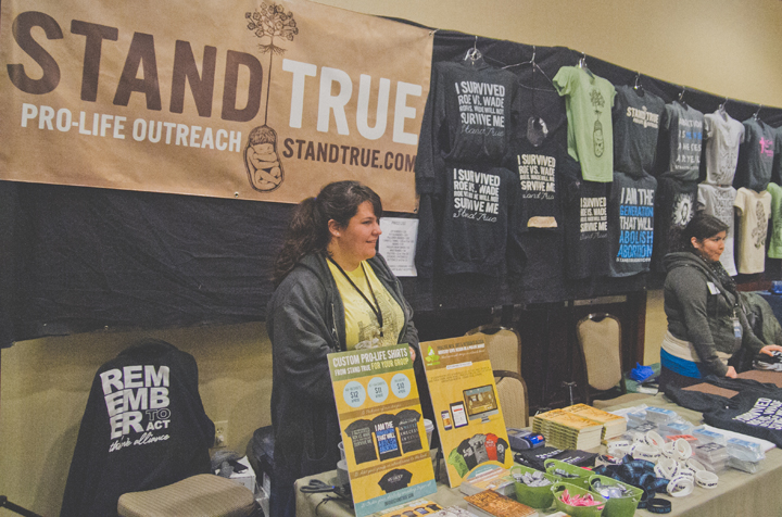 Sarah Durling at Stand True Booth at MFL